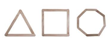 Arte del polo del triángulo, del cuadrado y del círculo Fotos de archivo libres de regalías