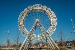 Arte del pubblico della ruota panoramica Fotografie Stock Libere da Diritti