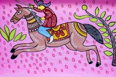 Arte del solder_Wall del montar a caballo para las festividades de los Años Nuevos de Bangla Foto de archivo libre de regalías