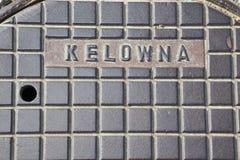 Arte del tabellone per le affissioni di Kelowna per le costruzioni concrete Immagine Stock