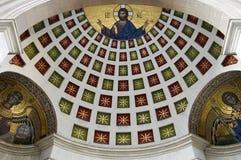 Arte del techo en iglesia Foto de archivo libre de regalías