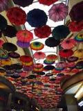 Arte del tejado de paraguas Imagen de archivo libre de regalías