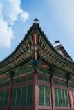 Arte del tejado, Duk Soo Palace Foto de archivo
