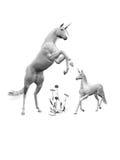 Arte del unicornio Imágenes de archivo libres de regalías