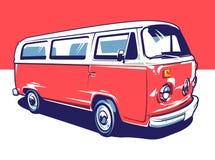 Arte del vector del coche del hippie ilustración del vector