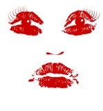 Arte del vector de la cara libre illustration
