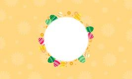 Arte del vector del bastidor de huevo de Pascua Foto de archivo libre de regalías