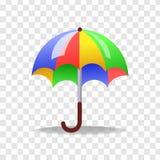 Arte del vector del estilo del realismo con el paraguas colorido Imágenes de archivo libres de regalías