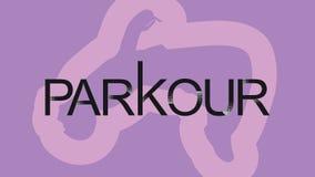 Arte del vector Parkour es un hombre Flip Back stock de ilustración