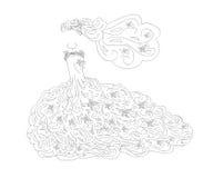 Arte del vestito da sposa Immagine Stock