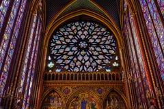 Arte del vetro macchiato di Chapelle del san fotografie stock