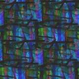 Arte dell'acquerello dell'ornamento di verde blu del fondo Fotografia Stock