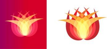 Arte dell'illustrazione del logo variopinto della società e del fiore Immagine Stock