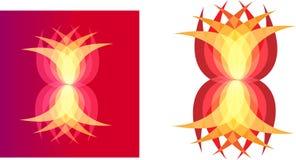 Arte dell'illustrazione del logo variopinto della società e del fiore Fotografia Stock Libera da Diritti
