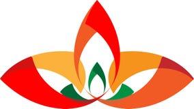 Arte dell'illustrazione del logo variopinto della società e del fiore Fotografie Stock