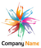 Logo del fiore Immagini Stock Libere da Diritti