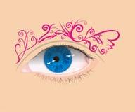 Arte dell'occhio Immagini Stock Libere da Diritti