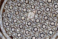 Arte dell'ottomano con i modelli geometrici su legno Immagine Stock Libera da Diritti