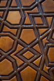 Arte dell'ottomano con i modelli geometrici su legno Fotografia Stock Libera da Diritti
