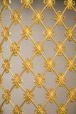Arte dell'ottomano con i modelli geometrici su legno Immagine Stock