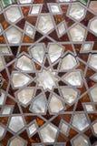 Arte dell'ottomano con i modelli geometrici su legno Fotografie Stock