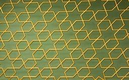 Arte dell'ottomano con i modelli geometrici su legno Immagini Stock