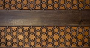 Arte dell'ottomano con i modelli geometrici su legno Fotografie Stock Libere da Diritti