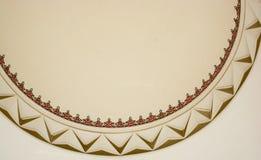 Arte dell'ottomano con i modelli geometrici su legno Fotografia Stock
