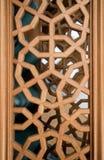 Arte dell'ottomano con i modelli geometrici su legno Immagini Stock Libere da Diritti