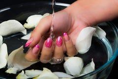 Arte dell'unghia e del manicure Fotografia Stock