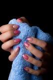 Arte dell'unghia e del manicure Immagini Stock Libere da Diritti