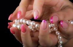 Arte dell'unghia e del manicure Fotografia Stock Libera da Diritti