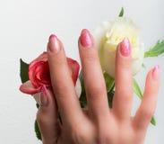 Arte dell'unghia e del manicure Fotografie Stock Libere da Diritti