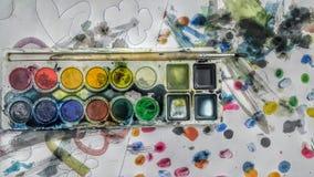 Arte della bambina Fotografia Stock