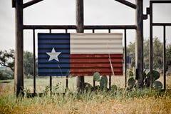 Arte della bandiera del Texas Immagine Stock Libera da Diritti