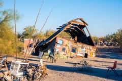 Arte della cabina della montagna di salvezza Fotografia Stock Libera da Diritti
