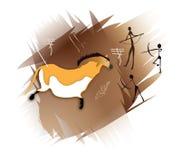 Arte della caverna illustrazione di stock