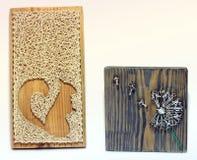 Arte della corda Lavoro manuale Fiore scoiattolo fotografia stock