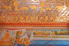 Arte della foto nell'arte di Wat Si Saketphoto Immagine Stock