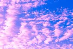 Arte della natura del dettaglio del paesaggio del cielo Fotografia Stock