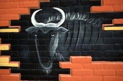 Arte della parete Fotografia Stock