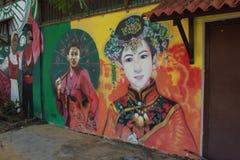 Arte della parete Fotografie Stock