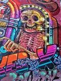 Arte della parete al mercato orientale a Detroit fotografie stock