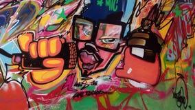 Arte della parete dei delinquente Fotografia Stock Libera da Diritti