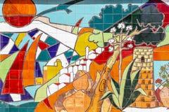 Arte della parete del mosaico Fotografia Stock