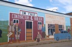 Arte della parete della strada principale dell'Alaska Fotografie Stock Libere da Diritti