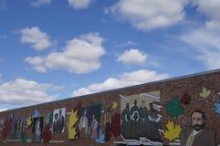 Arte della parete della strada principale dell'Alaska Immagini Stock Libere da Diritti
