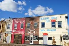 Arte della parete della strada principale dell'Alaska Fotografia Stock Libera da Diritti