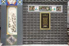 Arte della parete di costruzione classica in piccolo vicolo per la visita cinese e straniera della gente alla citt? di Swatow o d fotografia stock