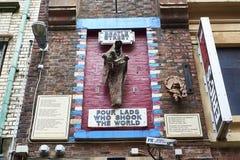 Arte della parete di Liverpool Beatles Fotografie Stock Libere da Diritti